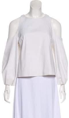 Cushnie et Ochs Cold-Shoulder Long Sleeve Top