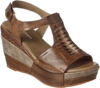 Antelope 629 Leather Wedge Sandal