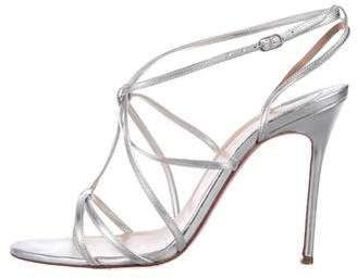 Christian Louboutin Metallic Leather Strap Sandals