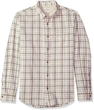 Lucky Brand Men's Long Sleeve Plaid Ballona Button Down Shirt In White Multi