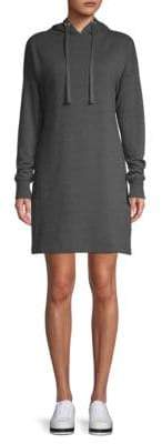 Heathered French Terry Hooded Sweater Dress