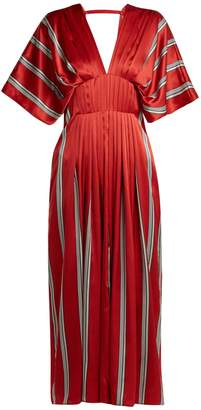 Roksanda Mihara striped silk-satin dress