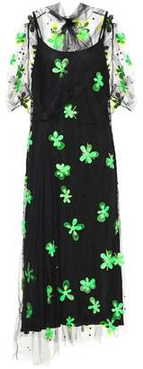 Prada Embellished tulle dress