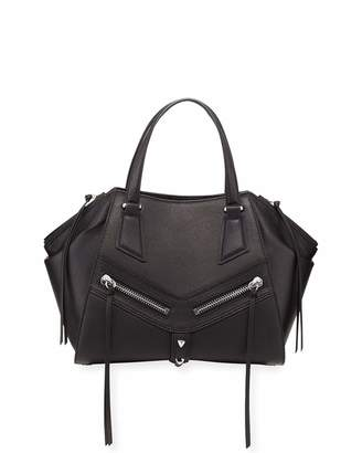 Botkier Trigger Brushed Leather Satchel Bag