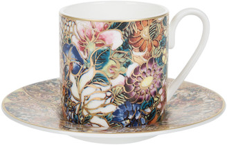 Roberto Cavalli Golden Flowers Coffee Cup & Saucer