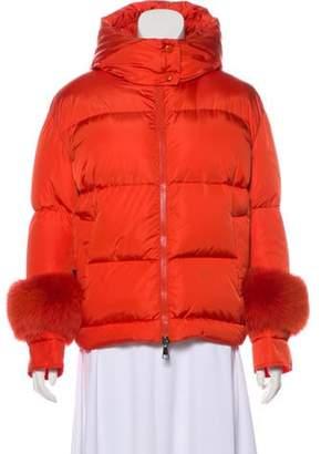 Moncler Hooded Down Jacket Orange Hooded Down Jacket