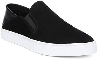Vince Women's Garvey Round Toe Slip-On Suede & Leather Sneakers