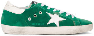 Golden Goose Emerald Green Superstar Suede sneakers