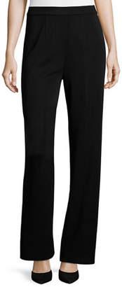 Misook Mid-Rise Wide-Leg Pants, Petite