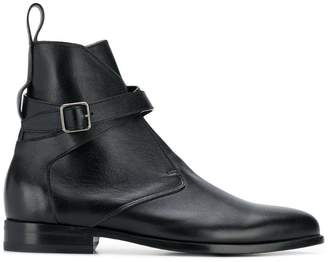 Saint Laurent buckle detail ankle boots