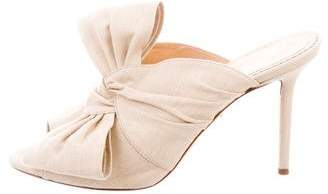 Charlotte Olympia Canvas Bow Mules
