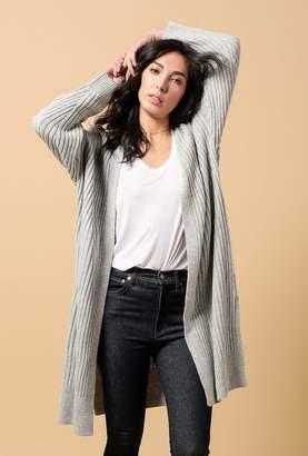 Azalea Thick Rib Knit Long Cardigan
