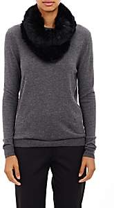 Barneys New York Women's Knitted-Fur Cowl Scarf - Black