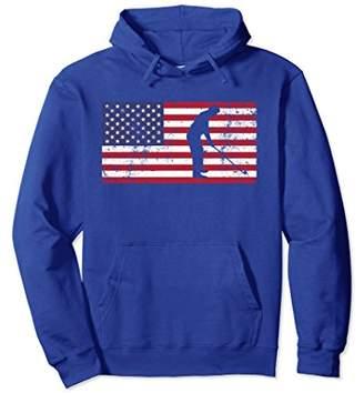 Golf Hoodie American Flag Fourth of July Gift Golfing Golfer