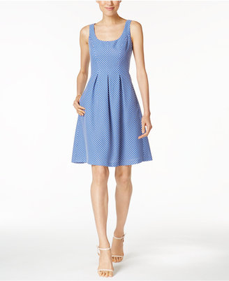 Nine West Printed Scoop-Back Pocket Dress $79 thestylecure.com