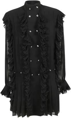 Philosophy di Lorenzo Serafini Ruffled Sheer Dress