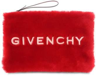 Givenchy Gv3 Logo Eco Fur Pouch