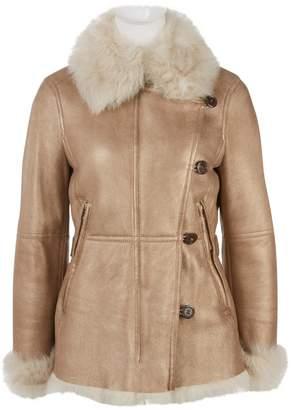 HUGO BOSS Gold Leather Coats