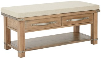 Inspired By Bassett INSPIRED by Bassett Materna 2-Drawer Padded Bench