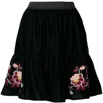 Pinko velvet mini skirt