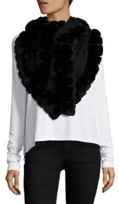 Glamour Puss Bohemian Rabbit Fur-Trimmed Scarf