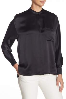 Vince Split Side Silk Blouse