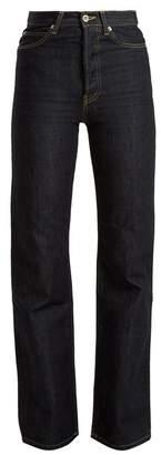Eve Denim - Juliette High Rise Straight Leg Jeans - Womens - Dark Indigo