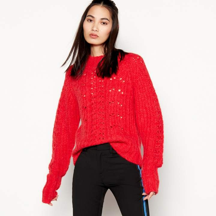 Red 'Pria' Knitted Jumper