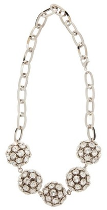 Alessandra Rich Crystal Embellished Sphere Necklace - Womens - Crystal