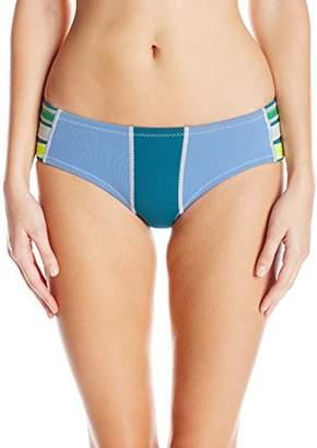 Cynthia Rowley Women's Color Block Fiber-Lite Neoprene Bikini Bottom