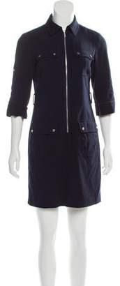 Michael Kors Zip-Accented Mini Dress