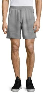 MPG Kilowatt Striped Run Shorts