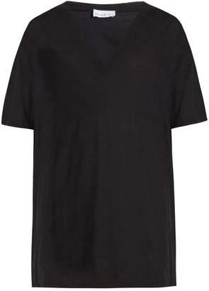 Raey V-neck cotton-jersey T-shirt