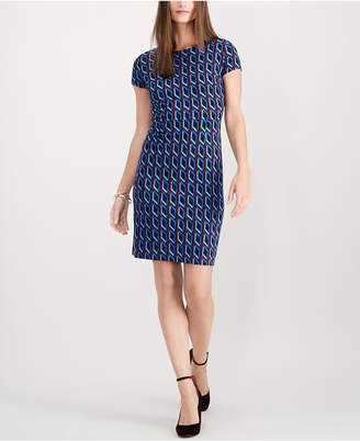 INC International Concepts I.N.C. Fitted Print Shift Dress, Created for Macy's