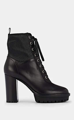Gianvito Rossi Women's Martis Leather Ankle Boots - Black