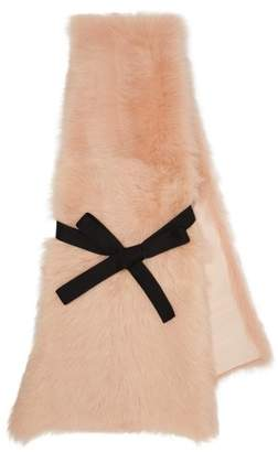 Raey Shearling Wrap Scarf - Womens - Nude