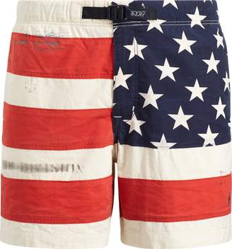 Ralph Lauren Classic Fit Flag Cotton Short