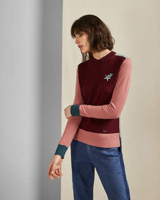 Ted Baker ESMEIA Knitted colour block jumper