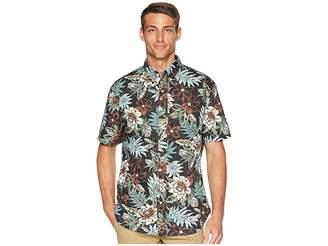 Reyn Spooner Vintage Hawaiian Floral Tailored Aloha Shirt