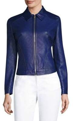 Versace Perforated Leather Jacket