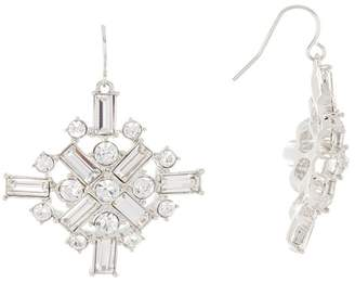 Carolee Large Crystal Cluster Drop Earrings