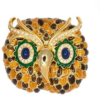Kenneth Jay Lane Owl Head Pin