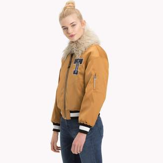 Tommy Hilfiger Satin Varsity Jacket