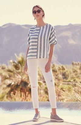 Petite Women's Caslon V-Back Linen Top $59 thestylecure.com
