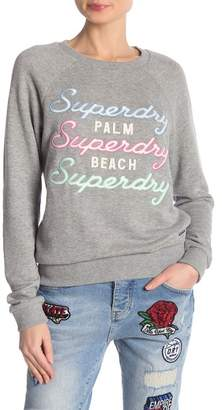 Superdry Applique Raglan Crew Neck Sweatshirt