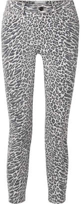 Current/Elliott The Stiletto Leopard-print Mid-rise Skinny Jeans - Leopard print