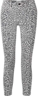 Current/Elliott - The Stiletto Leopard-print Mid-rise Skinny Jeans - Leopard print