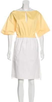 Altuzarra Short Sleeve Midi Dress Yellow Short Sleeve Midi Dress