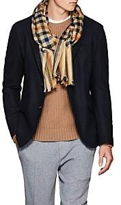 Drakes Drake's Men's Checked Cashmere Scarf - Beige, Tan