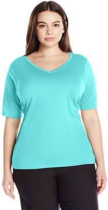 Kanu Surf Women's Plus-Size Solid Upf 50+ Swim Shirt Rashguard